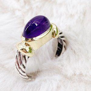 Vintage David Yurman Amethyst Two-Tone Ring ~ 6
